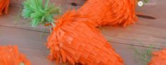 Mini Easter Piñatas | make your own carrot pinata
