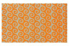 3'x5' Waves Outdoor Rug, Pumpkin