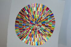 Making In the studio with Angela. Finished artwork - circle in square. Rowntrees Fruit Pastilles, Collage Artists, Collage Artwork, Quality Street, Square Art, Beach Mat, Outdoor Blanket, Electric, Studio