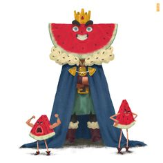 ArtStation - The prince of the kingdom of watermelon, Gop Gap   ★ || CHARACTER DESIGN REFERENCES (https://www.facebook.com/CharacterDesignReferences & https://www.pinterest.com/characterdesigh) • Love Character Design? Join the Character Design Challenge (link→ https://www.facebook.com/groups/CharacterDesignChallenge) Share your unique vision of a theme, promote your art in a community of over 30.000 artists! || ★