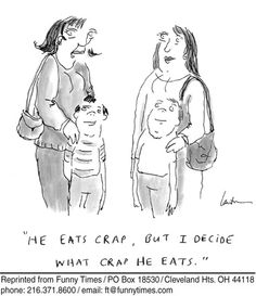 Funny food parenting nutrition  cartoon from October 31, 2012
