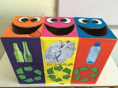 day crafts for kids preschool recycled art Recycled Crafts Kids, Recycled Art Projects, Projects For Kids, Crafts For Kids, Recycling Activities For Kids, Recycling For Kids, Earth Day Crafts, Earth Day Activities, Preschool Activities