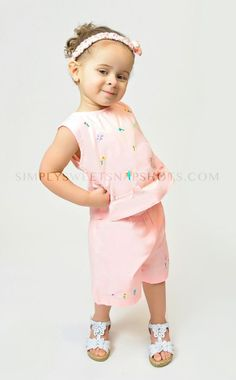 NWT Pink, Yellow, or White Girl's Embroidered Shorts Outfit 6M,12M,18M & 24M ONLY $9.99