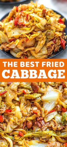 The Best Fried Cabbage - The ingredients and how to make it please visit the website Warm Salad Recipes, Easy Chicken Dinner Recipes, Winter Dinner Recipes, Delicious Dinner Recipes, Easy Recipes, Dinner Ideas, Fast Dinners, Lunches And Dinners, Fried Cabbage