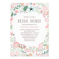 ♥ More bridal shower invitations at http://www.zazzle.com/bridal+shower+invitations?ps=120&rf=238252963030229232&tc=wpz ♥