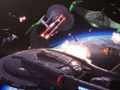 Star Trek Space Battle. Free Star Trek computer desktop wallpaper, images, pictures download
