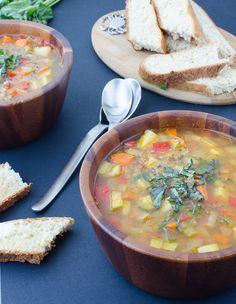 chunky vegetable soup chunky vegetable soup a healthy simple soup ...
