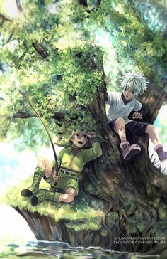Hunter X Hunter - Fishing Time by Shumijin.deviantart.com on @DeviantArt