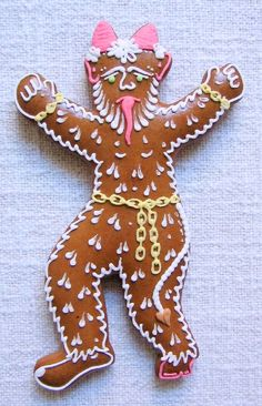 Today we are looking at Moravian and Bohemian gingerbread designs from the Czech Republic. Back home, gingerbread is eaten year round and beautifully decorated cookies are given on all occasions. Holiday Crafts, Holiday Decor, Very Scary, Saint Nicholas, Cookie Designs, Yule, Back Home, Czech Republic, Cookie Decorating