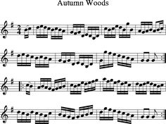 Autumn Woods (Irish Folk Song) (Ireland) sheet music for Treble Clef Instrument - 8notes.com