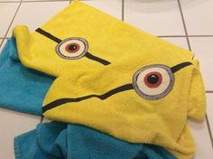 One yellow+one blue IKEA Towels=2 minions Towels.