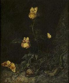 Otto Marseus Snuff. Van Schrieck - Waldstück Mit Schmetterlingen, Schnecke Und Eidechse