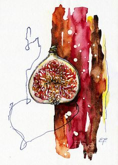 Fluidity 15 -fresh Fig- Elena Yakubovich Print by Elena Yakubovich. All prints are professionally printed, packaged, and shipped within 3 - 4 business days. Choose from multiple sizes and hundreds of frame and mat options. Natural Forms Gcse, Natural Form Art, Gcse Art Sketchbook, Organic Art, A Level Art, Fruit Art, Botanical Art, Granada, Exotic Fruit
