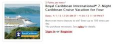 Enter My Coke Rewards' Royal Caribbean Royal Caribbean 7-Night Caribbean Cruise April Sweepstakes for your chance to win a cruise for four aboard a Royal Caribbean International vessel.