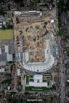 LONDON,UNITED KINGDOM - JULY 3: Work continues on the White Hart Lane redevelopment, the new home of Tottenham Hotspur at White Hart Lane on July 3, 2017 in London, England