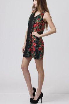 Floral Sheath Dress   In Bloom  patterned dress,  #print dress -  fashion  #floral print