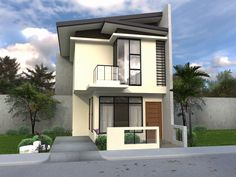 Two Story House Design Photos Fresh Collection 50 Beautiful Narrow House Design for A 2 Story 2 Floor Double Storey House Plans, Narrow Lot House Plans, 2 Storey House, Garage House Plans, Modern House Plans, House Floor Plans, Small House Interior Design, House Design Photos, Cottage Design