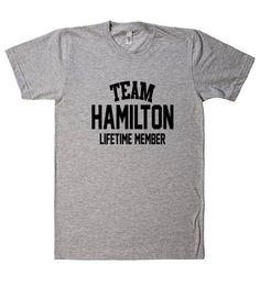 Team Name Lifetime Member T-Shirt HAMILTON