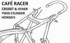 CAFE RACER / BRAT STYLE FRAME LOOP / HOOP TUBE WITH *KICK-UP* CB500T CB450 CB350