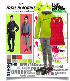 """""""Nike Total Blackout"""" by marina-siouti ❤ liked on Polyvore"""