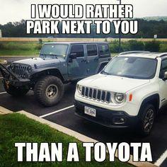 New Jeep Rubicon, Jeep Wrangler Unlimited, Cheap Jeeps, Jeepney, Jeep Renegade, Jeep Stuff, Car Humor, Toyota, Transportation