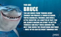 I took Zimbio's famous shark quiz for Shark Week and I'm Bruce from 'Finding Nemo'! What shark are you?