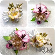 Lily Corsages - #HeartfeltCreations #cardmaking #papercraft #lilies #scrapbooking #spring #friendship #anyoccasion #thinkingofyou #Mother'sDay #alteredart #corsage