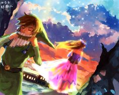 The Legend of Zelda: Spirit Tracks, Link and Princess Zelda / 「大地の汽笛」/「6Am」のイラスト [pixiv]
