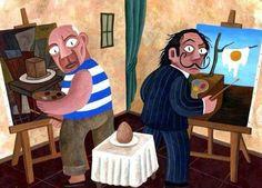 Blog: Screenshots: Picasso und Dalí malen ein Ei - [ART]