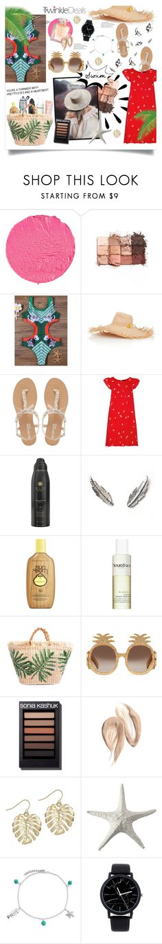 """""""TwinkleDeals Swimsuit"""" by got-bts ❤ liked on Polyvore featuring Givenchy, tarte, Littledoe, Head Over Heels by Dune, Old Navy, Hatch, Soleil Toujours, LeiVanKash, Sun Bum and Natura Bissé"""