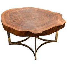 Live Edge Table on Modernist Chrome Base $6,800