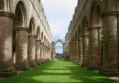 Sacked by Henry VIII as he sent his guys out dissolving the monasteries, Fountains Abbey is one of the most peaceful and evocative ruins you will ever see. One of my favourite places on earth.