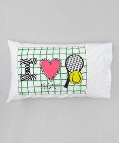 Personalized I Love Tennis Pillow Case