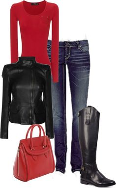"""""""Black and Red"""" by crsmith3499 on Polyvore"""