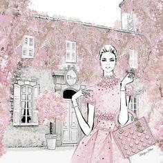 21 Ideas fashion drawing illustration style megan hess - Fashion Show Megan Hess Illustration, Illustration Art Nouveau, Illustration Mode, Fashion Design Drawings, Fashion Sketches, Fashion Illustrations, Illustration Fashion, Deco Paris, Glamour Moda