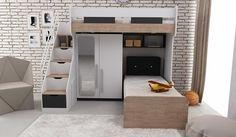 Gencecix Compact Ranza Condo Design, Küchen Design, Cool Bunk Beds, Kid Beds, Kids Bed Design, Space Saving Beds, Small Condo, Bunk Bed Designs, Kids Room Furniture