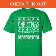 Christmas Paleontologist Ugly Sweater - Adult Shirt Xl Irish-green - Holiday and seasonal shirts (*Amazon Partner-Link)