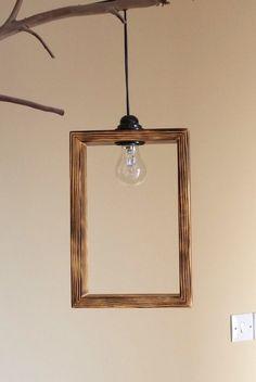 IDEA - modern wood light shade lighting pendand light by rustichandcrafts