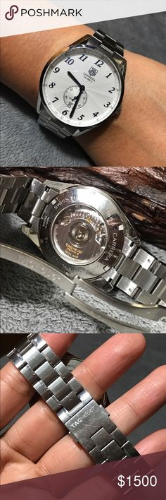Tag Heuer Carrere Caliber 6 Automatic Watch Authentic Automatic Tag Heuer Unisex Watch. Used in good condition. Works great. Will fits up to 6.5 inches wrist. No box/paper. Thank you Tag Heuer Accessories Watches