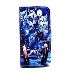 ulv i Dream Catcher PU læder hele kroppen tilfældet med kort holder til iPhone 5 / 5s – DKK kr. 55