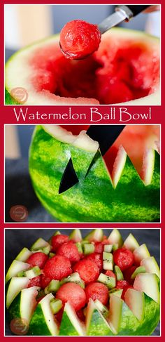 Sweet and juicy, watermelon loved by all! We have the perfect way to not only serve it up (using the melon as a bowl) but also any leftovers get put into the freezer for another day. Follow directions below to make your own Watermelon Ball Bowl.
