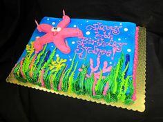 Starfish Birthday Cake by Stephanie Dillon LS1 Hy-Vee
