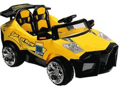 Big Toys USA - Mini Motos Super Car - Mini Motos Super Car The Mini Motors ATV Super Car is sure to be a blast! Featuring large tires, chrome rims, lights, sounds, dual motors and traction strips for smooth and quiet operation on pavement. Power Wheels, Power Cars, Car Colors, Ride On Toys, Best Kids Toys, Pedal Cars, Toy Store, Cool Toys, Kids Playing