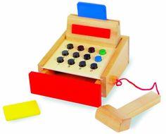 Caja registradora de madera Legler