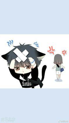 Cute Chibi Couple, Anime Love Couple, Manga Couple, Anime Couples Manga, Cute Anime Couples, Cute Cartoon Drawings, Kawaii Drawings, Cartoon Art, Anime Chibi