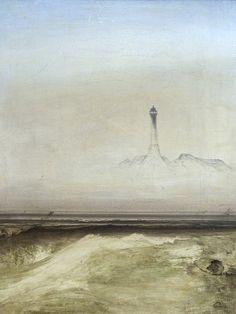 Fyrtårn 1865 - Peder Balke er regnet som den første kunsteneren som i sin tid reiste til Nord-Norge. «Fyrtårn» ble malt i 1865. - Foto: Sture Nepstad / Nordnorsk Kunstmuseum