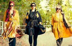 Iranian women in fashionable shades. Dubai Fashion, Hijab Fashion, Fashion Beauty, Girl Fashion, Fashion Design, Persian Dress, Cyrus The Great, Persian Girls, Persian Culture