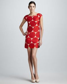 maya dot-print shift dress by kate spade new york at Neiman Marcus. This little number has fun wrote all over it!