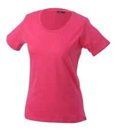 James & Nicholson Damen T-Shirt Basic XX-Large pink