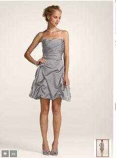 http://www.davidsbridal.com/Product_Short-Strapless-Pick-Up-Dress-84091_Bridal-Party-Bridesmaids-Shop-By-Color   Mercury...